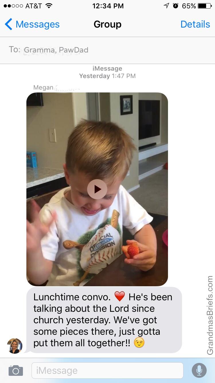 text to grandma
