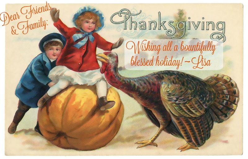 thanksgiving vintage card