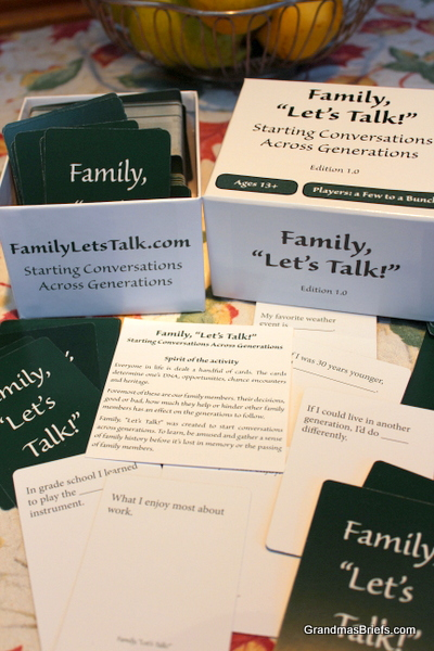 family, let's talk card game