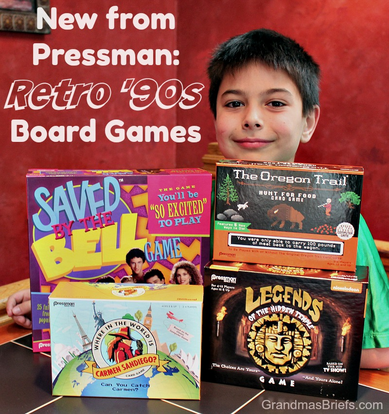 retro 90s games from Pressman Toy