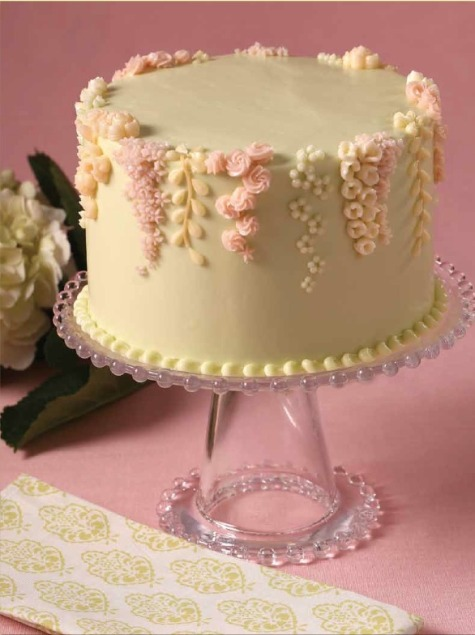 English Garden Buttercream Single Cake