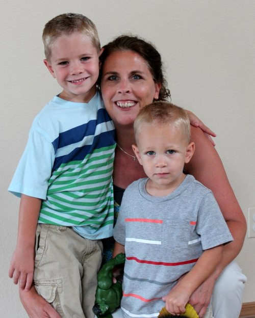 grandma and grandsons