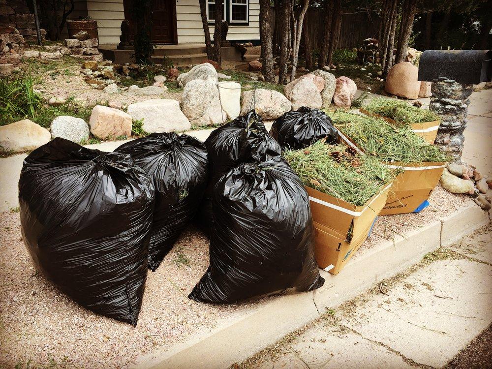 hail storm garbage