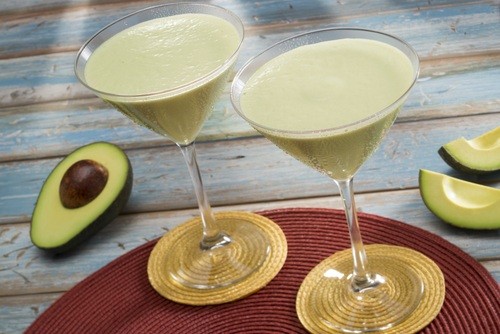 avocado and dulce de leche martini