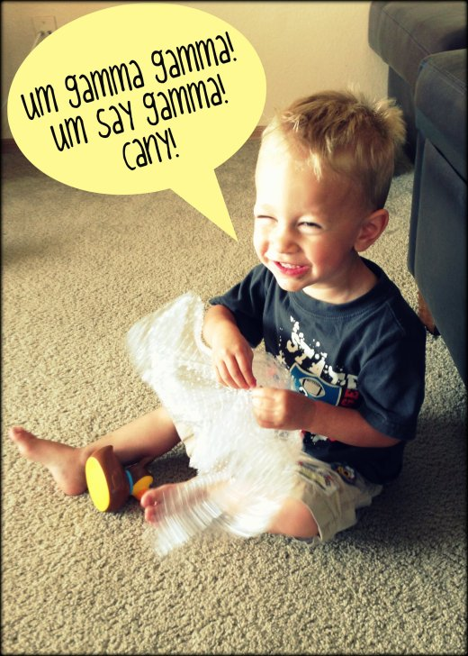 boy and bubble wrap
