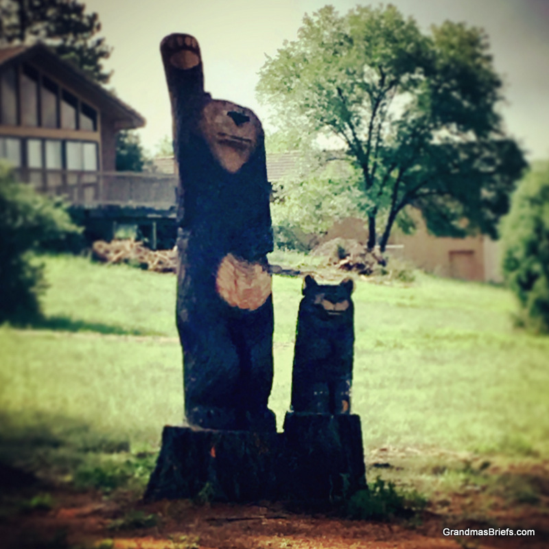bear yard art