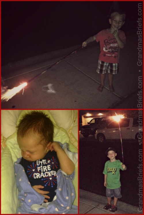 grandsons Fourth of July
