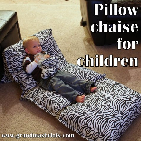 pillow chaise for kids