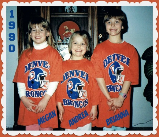 little girl Broncos fans 1990
