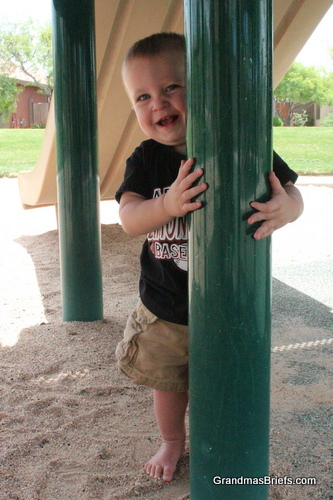 toddler at park