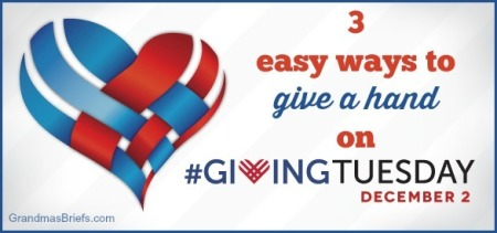 give a hand on giving tuesday