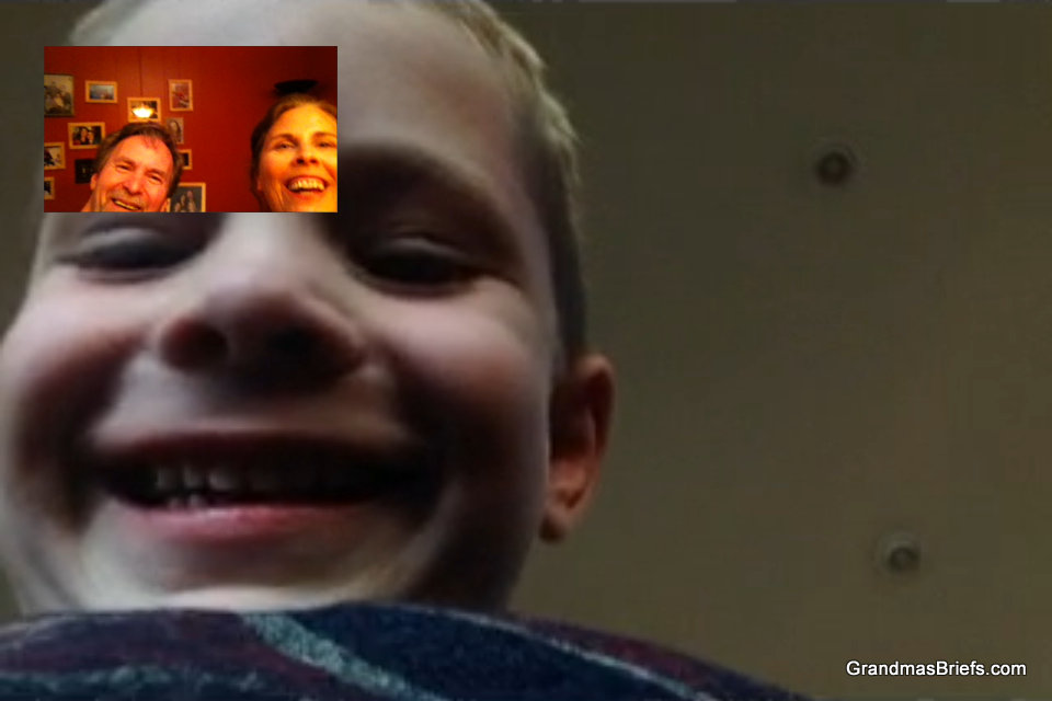 FaceTime with grandchildren