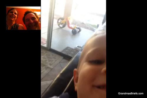 FaceTime with grandchild