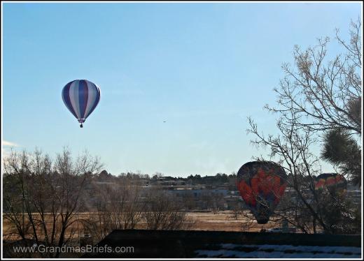 hot air balloon descent