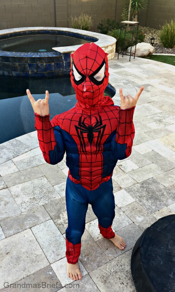 six year old spider man
