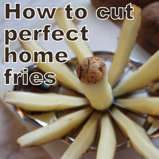 how to cut fries