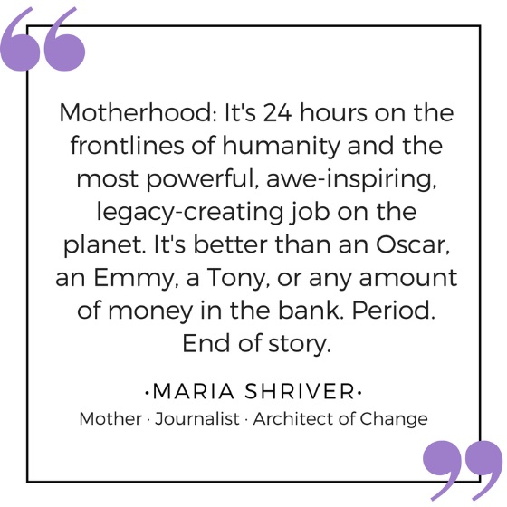 maria shriver on moms