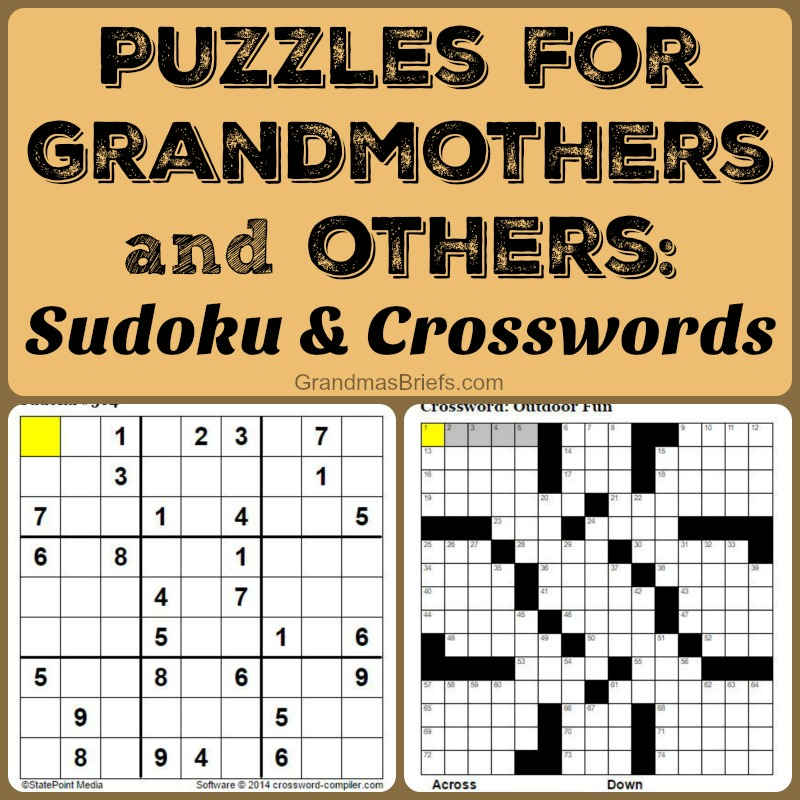 sudoku and crossword puzzles