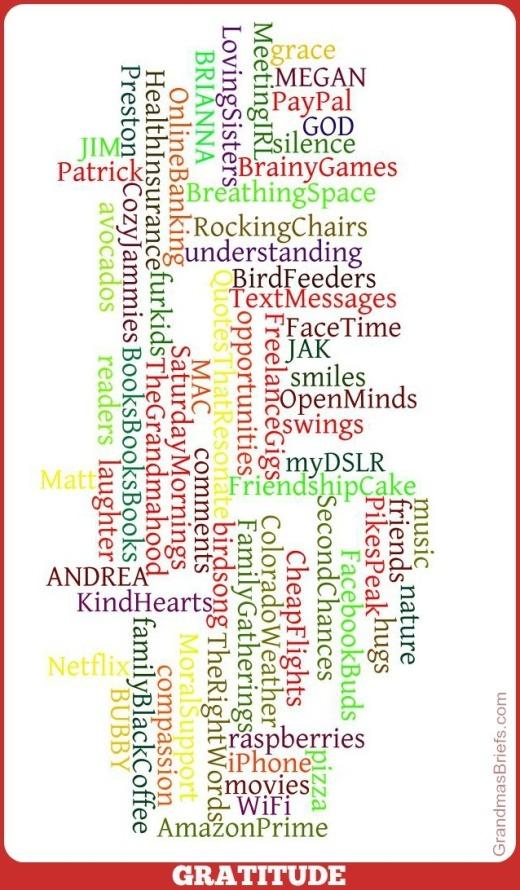 gratitude wordle