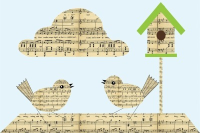 birds of musical notes