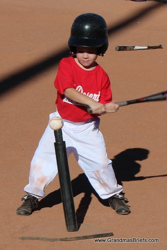 leftie t-ball player