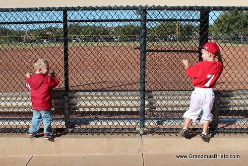 boys at baseball field