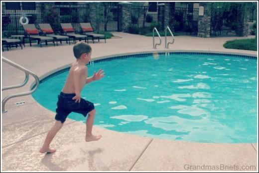 swimming pool jump