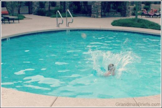 swimming pool splash