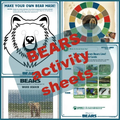 Bears printable activities