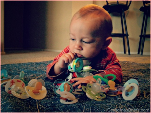 baby and pacifiers
