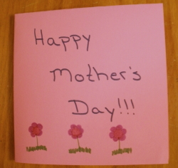 homemade mother's day card from daughter