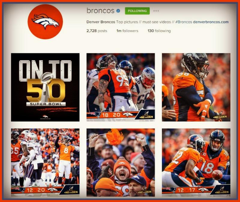 Denver Broncos Instagram page