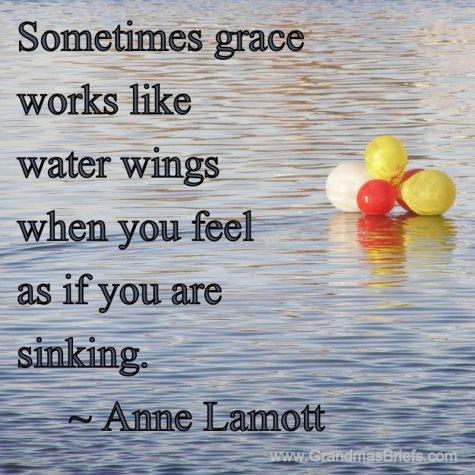 Anne Lamott water wings quote