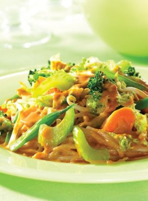 Mixed Vegetables in Spicy Peanut Sauce