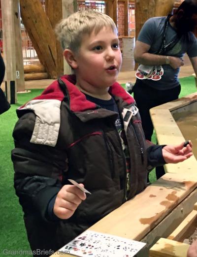 boy mining for gems