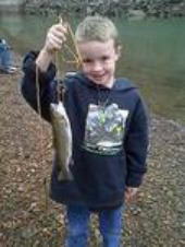 grandson fishing