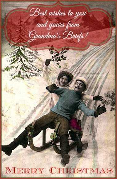 Christmas card from Grandma's Briefs