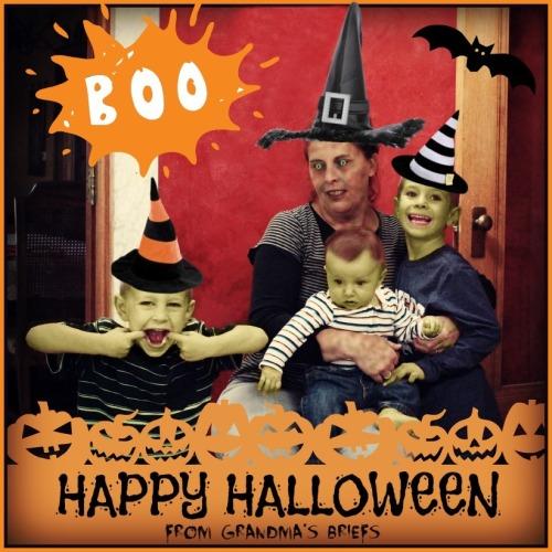 Halloween grandma and grandsons