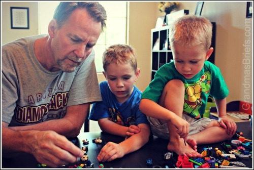 Lego play with Grandpa