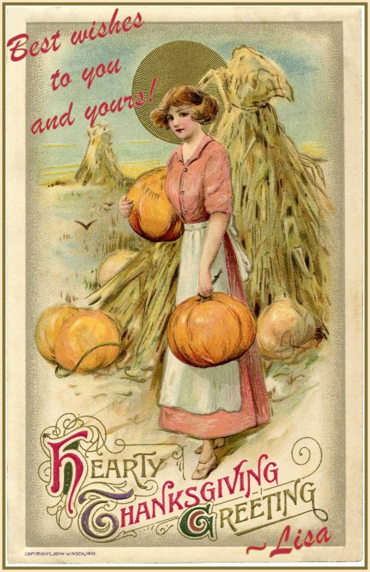 Thanksgiving card from The Graphics Fairy