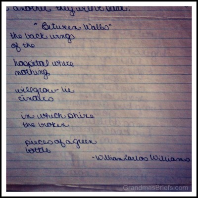 Between Walls poem