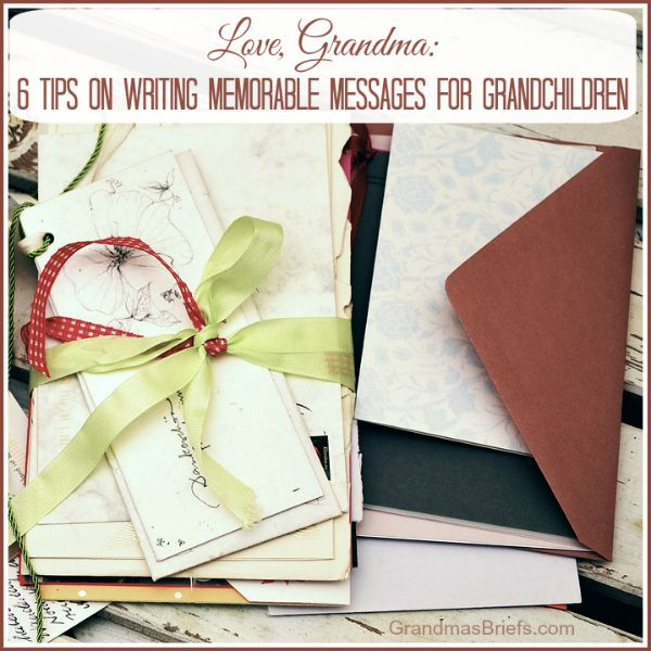what to write to grandchild