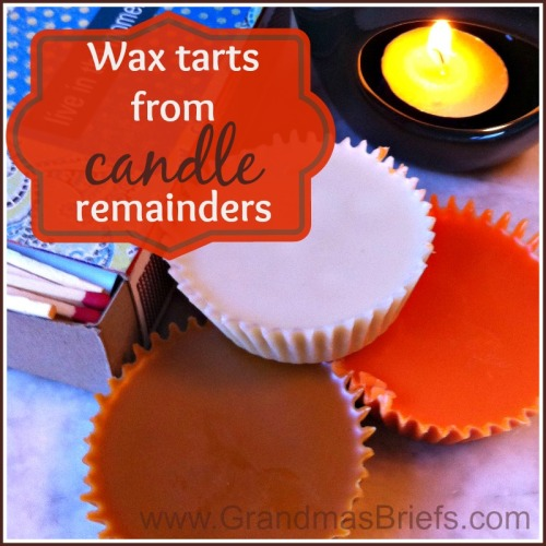 Wax tarts from candle remainders