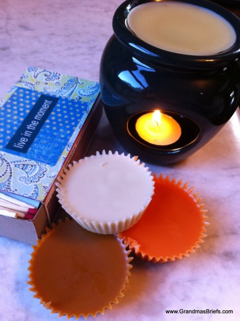 scented tarts from candle wax