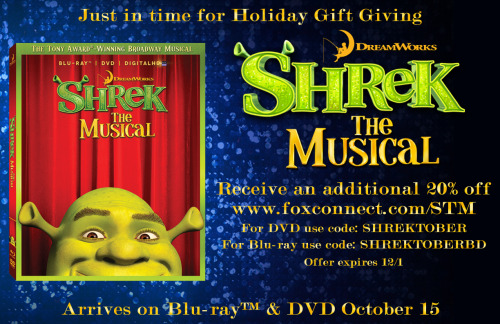 Shrek The Musical discount code