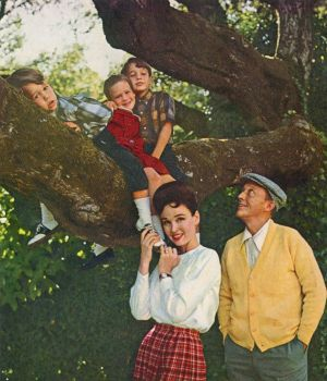 Bing Crosby and family