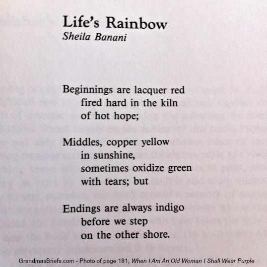 life's rainbow by sheila banani