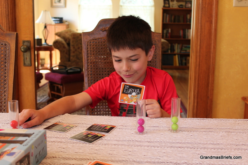 boy playing Dr. Eureka