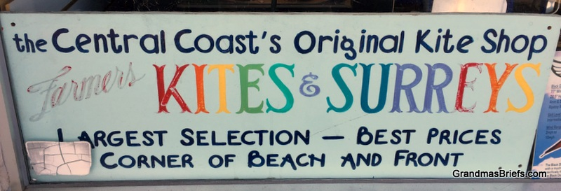 Farmer's Kites & Surreys sign