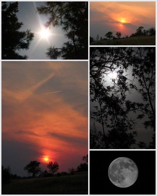 photos of super moon and sun sets